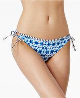 California Waves Keyhole Side-Tie Hipster Bikini Bottoms