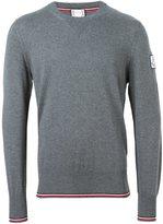 Moncler Gamme Bleu trim detail jumper - men - Cotton/Virgin Wool - XL