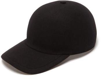 96806e7a1 Cashmere And Wool Blend Baseball Cap - Mens - Black