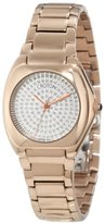 Croton Women's CN207315INRG Czarina Paved White Diamond Dial Rose Gold Tone Ion-Plated Stainless Steel Watch