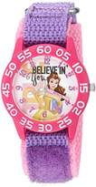 Disney Girl's 'Belle' Quartz Plastic and Nylon Watch