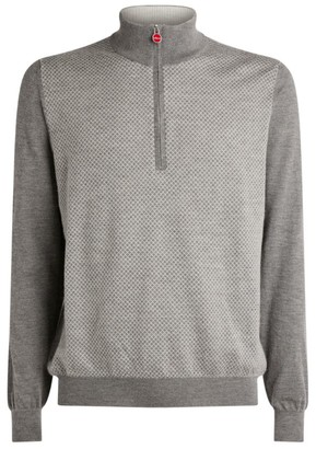 Kiton Zip-Up Diamond Polo Shirt