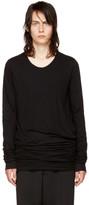 Rick Owens Black Long Sleeve Double T-Shirt