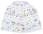 Kissy Kissy Safari Excursion Baby Hat, Blue/White