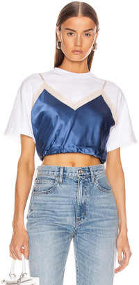 Alexander Wang Draped Cami Hybrid T-Shirt in Petal Blue | FWRD
