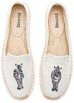 Soludos Zebra Smoking Slipper in Cream
