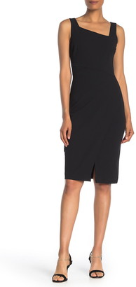 Betsey Johnson Asymmetrical Cross Front Shift Dress