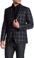 Robert Graham Plaid Print Two Button Notch Lapel Wool Sport Coat