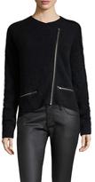 Maje Asymmetrical Front Zip Cardigan