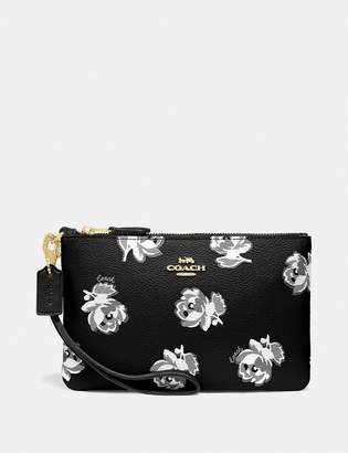 Coach Small Wristlet With Floral Print