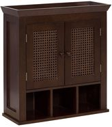 Elegant Home Fashions Cane 2-Door Wall Cabinet