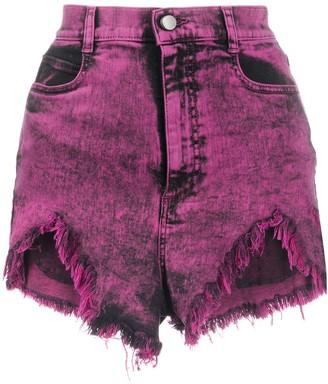 RED Valentino Acid Wash Denim Shorts
