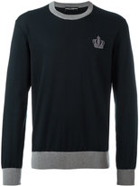 Dolce & Gabbana embroidered crown jumper - men - Cotton - 48