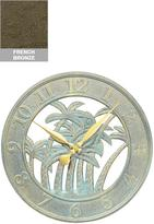 """Palm Silhouette 18"""" Outdoor Clock"""