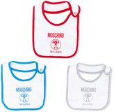 Moschino Kids - three bib set - kids - Cotton - One Size