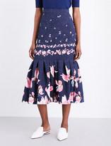 Erdem Floral-print silk skirt