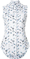 Thom Browne sleeveless floral print shirt - women - Cotton - 38