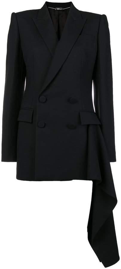 Alexander McQueen pleat detail blazer