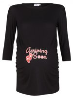 Happy Mama Boutique Happy Mama. Womens Maternity Top Shirt Baby Arriving Soon 3/4 Sleeves. 465p