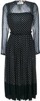 No.21 polka dot pleated dress - women - Silk - 40