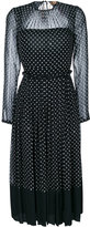 No.21 polka dot pleated dress