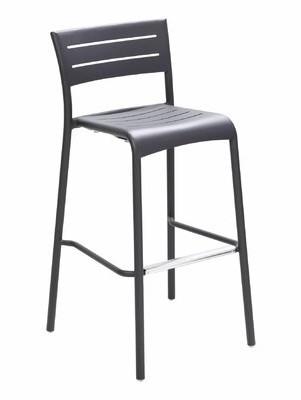 "Florida Seating 30"" Patio Bar Stool Frame Color: Bronze"