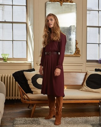 Petite Mendigote Burgundy Dress - small