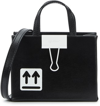 Off-White Baby Binder Clip leather cross-body bag