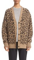 Alexander Wang Women's Leopard Wool & Cashmere Cardigan