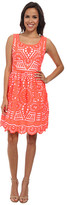 Kas Cutwork Fit and Flare Dress