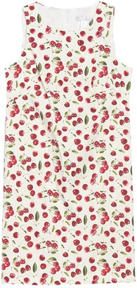 London Times Cherry Print Sleeveless Shift Dress