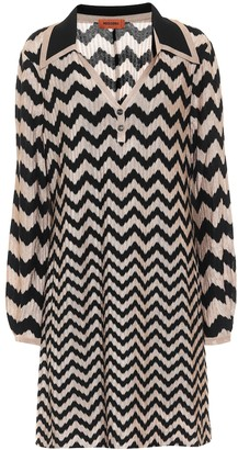Missoni Chevron stretch-wool minidress