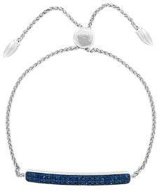 Effy Sterling Silver & Sapphire Bolo Bracelet