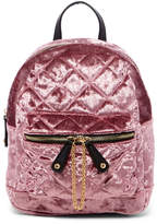 Urban Expressions Velvet Quilted Mini Backpack