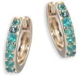 Astley Clarke Mini Halo Emerald & 14K Yellow Gold Hoop Earrings