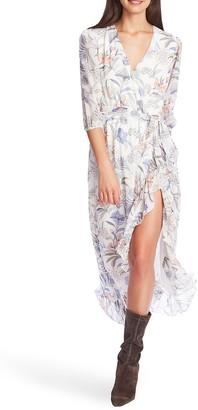 1 STATE Floral Print Wrap Maxi Dress