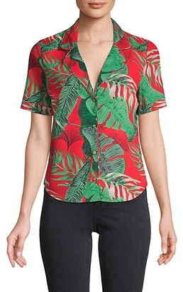 RtA Botanical-Print Top