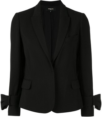 Paule Ka bow-detail fitted blazer