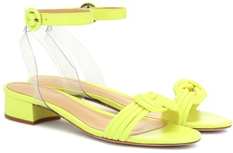 Alexandre Birman Vicky PVC and leather sandals