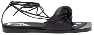Ellery Themister Wrap Leather Sandals - Black