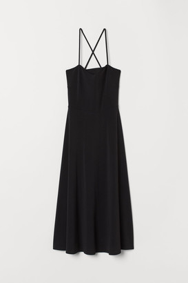 H&M Creped Jersey Dress - Black