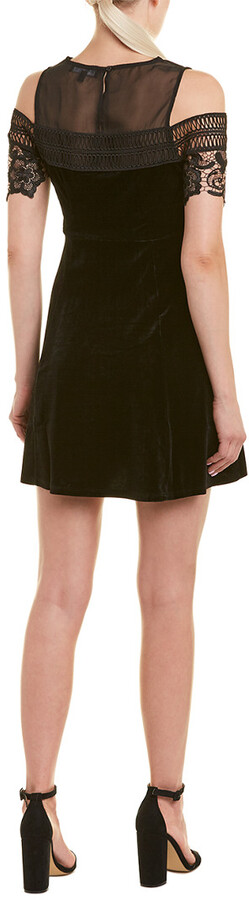 Thumbnail for your product : Romeo & Juliet Couture Velvet A-Line Dress
