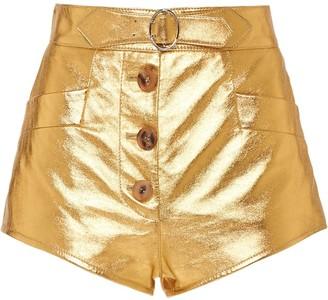 Miu Miu Lame metallic shorts