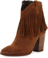 Andre Assous Farley Fringe Suede Bootie, Brown