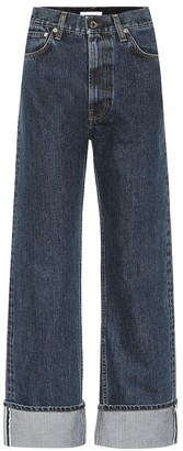 Helmut Lang Cuffed high-rise straight jeans