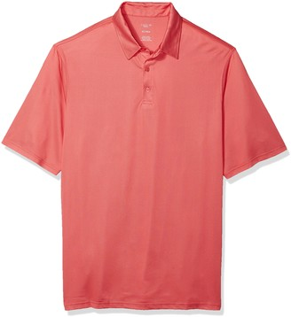 Haggar Men's Big and Tall Big&Tall Short Sleeve Birdseye Polo with Spandex