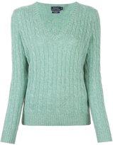 Polo Ralph Lauren cable knit v neck jumper