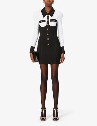Balmain Buttoned knitted midi dress
