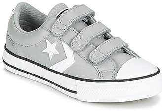 Converse STAR PLAYER EV 3V LEATHER OX girls's Shoes (Trainers) in Grey