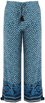 Figue Fiore silk cropped trousers